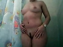 Mom under shower