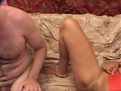 Cock sucking indian hooker gets cunt licked fucked and creamed