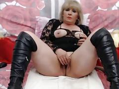 Blonde Mature On Webcam