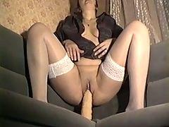 Anna masturbate with huge dildo