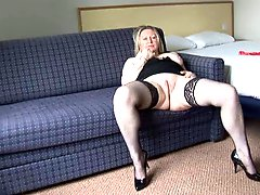 Mature Lady Playing Alone
