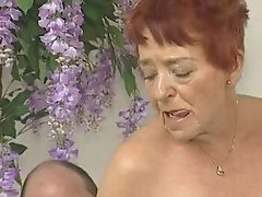 Deliciously Hairy Granny Sucks and Fucks