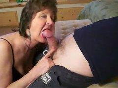 Milf is sucking my dick Real