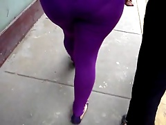 Hot Sexy Latina MILF in Thight Pants Outside