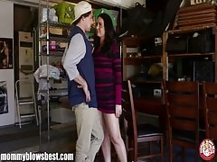 MommyBB Busty Mature MILF blows a young boy for discount