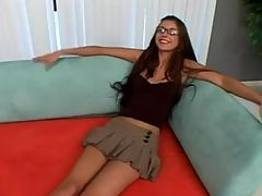 Teen sexy innocent girl with glasses