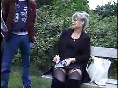 Crazy French Old Mature cheating for a