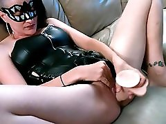 Milf Fucks Her Dildo Then Hubby Pounds Her Pussy Cums Inside Her Creampie