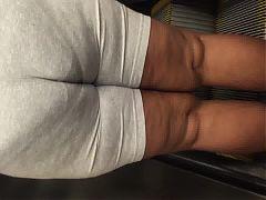 Juicy Booty Milf In Tight Grey Sweats Vpl Pt 1