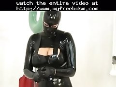 Latex Rubber Girls Play With Toys BDSM Bondage Slave F