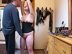 My slave Wife in glasses Punished