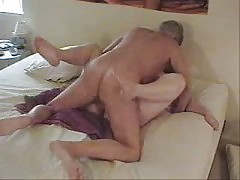 Older Man Having Sex With Wife On Bed Wear Tweed