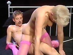 Short Hair Pink Stockings
