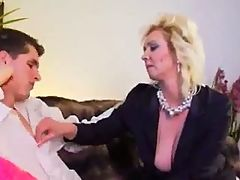 Blond Mom And Her Young Lover