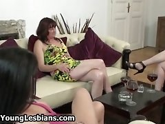 Sexy Mature Lady Seduces A Cute Teen Girl Into Hot Sex