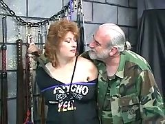 Thick Brunette BDSM Slave Gets Ropes Around Her Neck And Lots Of Torture