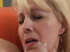 Blond Granny Fucks Black Cock
