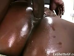 Ebony Babe With Big Booty Loves Fucking