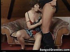 Nasty Brunette MILF Slut Gives Amazing Blowjob To Big F