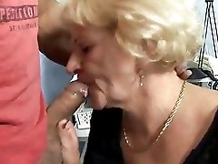 HORNY GRANNY GETS FUCKED BY A MUSCLED GUY