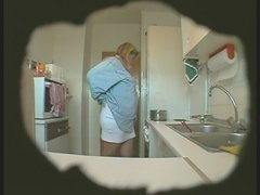Bbw Wife Masturbates In Kitchen Hidden Cam