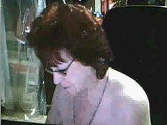 Mature mom on webcam