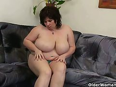 Chubby Moms With Big Tits Having Solo Sex
