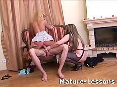 Hot Young Chick Sucks Cock After Her Mature Teacher