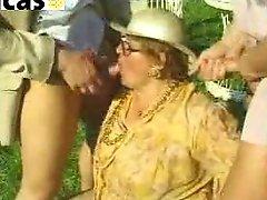 Granny Anal Gangbang