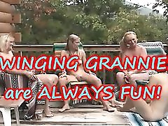 4 GRANNIES on their KNEE S with BBC