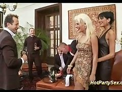 Girls In Business Party Orgy