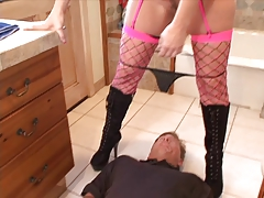 Blond Slut Gets Ass Licked And Sucks Cock