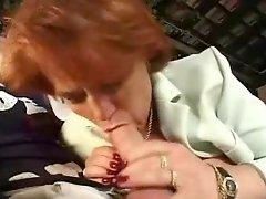 Old redhead Granny Fucked