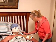 Mom catches female MILF DOC doing her son!