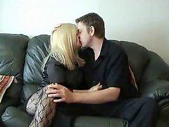 Chav mature slut fucked on sofa