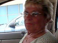Granny Shirley Gets New Dildo