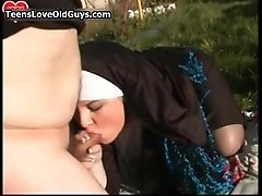 Horny Young Nun Getting Her Pussy Smashed From Behind I