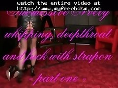 Whipping Deepthroat And Fuck With Strapon Part One