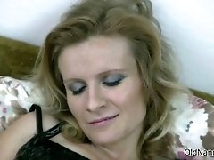 Horny Granny Loves Having Lesbian Sex With A Mature Lad