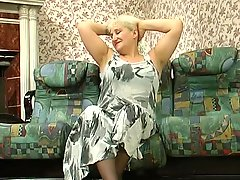 Older Sexy Blond Russian granny gets it good