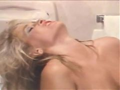 Paul Thomas Fucks Blonde in a Public Bathroom