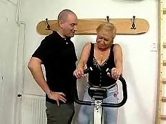 Mature working out gets fucked 1