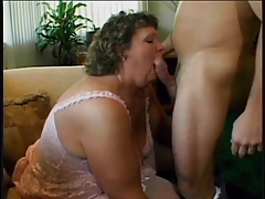 Big Fat Bbw Slut With Floppy Tits And Shaved Pussy Gets Fucked And Cummed On