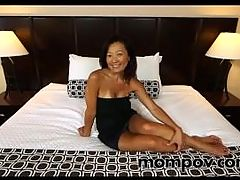 Asian mature with big nipples fucked
