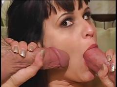 Big tit babe in bodystocking loves hard anal