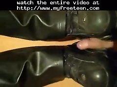 Shoejob With Buffalo Boots Teen Amateur Teen Cumshots S