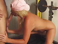 Blonde Mature Woman Fucks