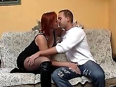 Mature euro redhead gets a fuck her old pussy needs