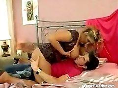 Busty Mature Cougar Vs Young Big Dick
