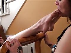 Lesbian mature lick young lesbian feet